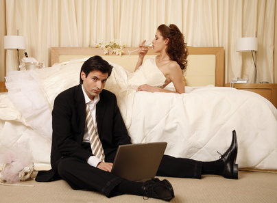 Dissatisfied wedding couple